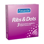 Pasante kondomy Ribs-Dots 3 ks
